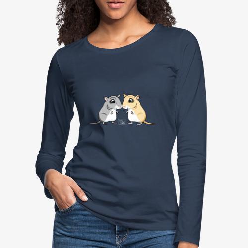 Gerbil Pair II - Naisten premium pitkähihainen t-paita