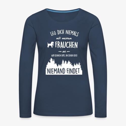 Mein Frauchen - Frauen Premium Langarmshirt