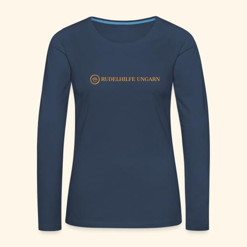 Rudelhilfe Logo - Frauen Premium Langarmshirt