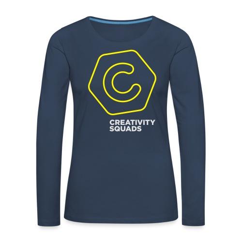 CreativitySquads 002 - Naisten premium pitkähihainen t-paita