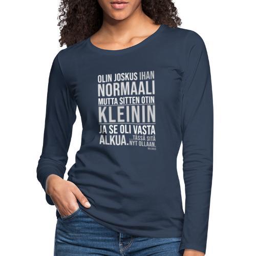 Vasta Alkua Kleini - Naisten premium pitkähihainen t-paita