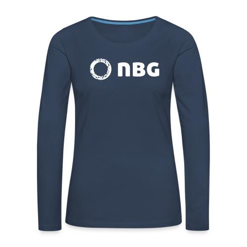 NBG Logo Icon - Frauen Premium Langarmshirt