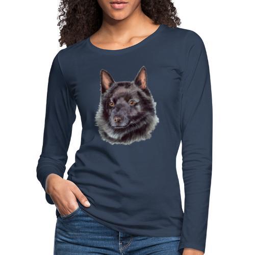 schipperke - M - Dame premium T-shirt med lange ærmer