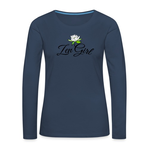 zengirl with lotusflower for purity in life - Långärmad premium-T-shirt dam