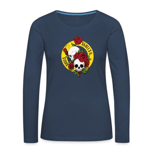 SKULL'S N ROSES - Camiseta de manga larga premium mujer