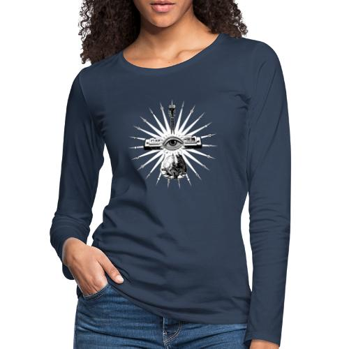 Blues Is The Truth - white star - Women's Premium Longsleeve Shirt