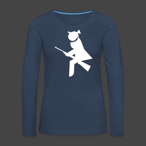 """Jagdhexe""-Jägerinnenshirt - Frauen Premium Langarmshirt"