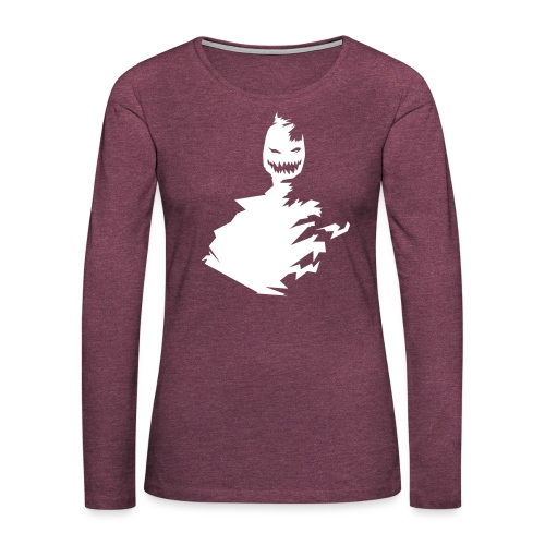t-shirt monster (white/weiß) - Frauen Premium Langarmshirt