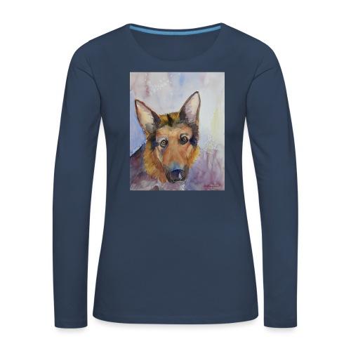 german shepherd wc - Dame premium T-shirt med lange ærmer