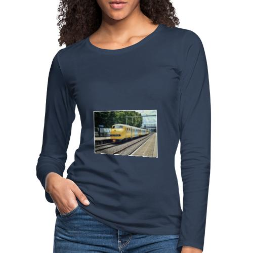 Museumtrein in Breda Prinsenbeek. - Vrouwen Premium shirt met lange mouwen