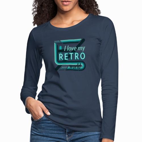 Retro world - Women's Premium Longsleeve Shirt