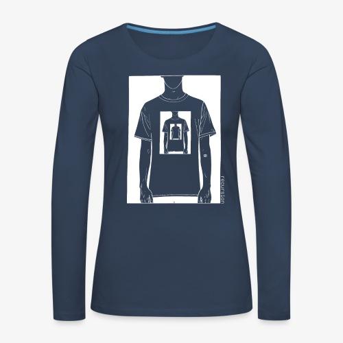 Recursion inverted | Geek | Art | Loop | - Women's Premium Longsleeve Shirt