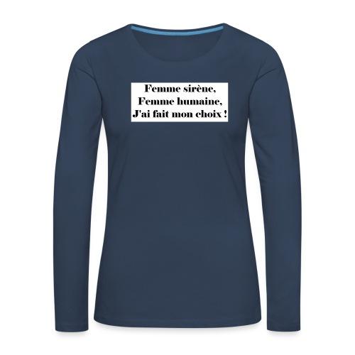 Ariel - T-shirt manches longues Premium Femme