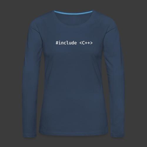 White Include Logo - Women's Premium Longsleeve Shirt