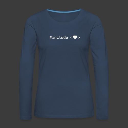 White Include Heart - Women's Premium Longsleeve Shirt