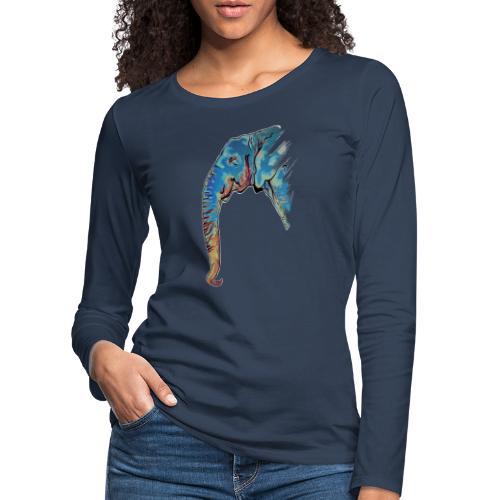 Éléphant Design - T-shirt manches longues Premium Femme
