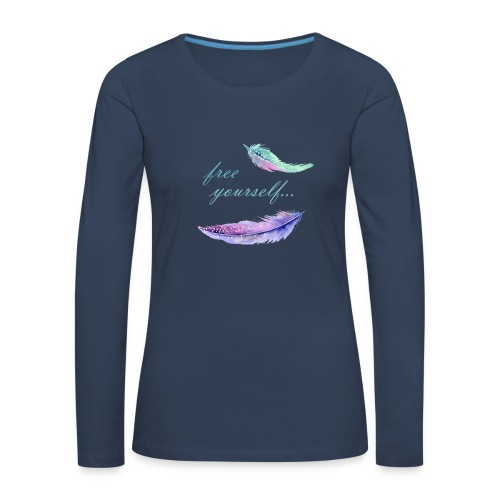 free yourself - Frauen Premium Langarmshirt