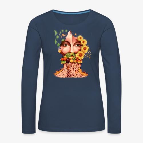 Fruit & Flowers - Women's Premium Longsleeve Shirt