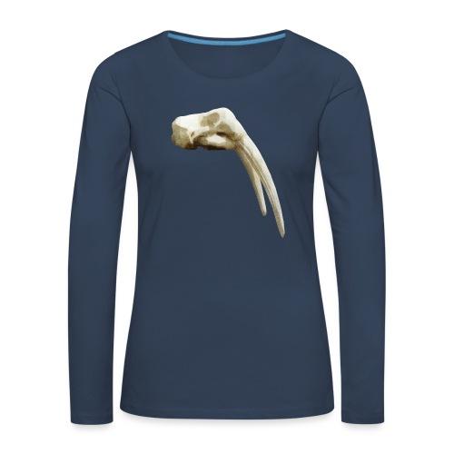 Schedel van een walrus - Vrouwen Premium shirt met lange mouwen
