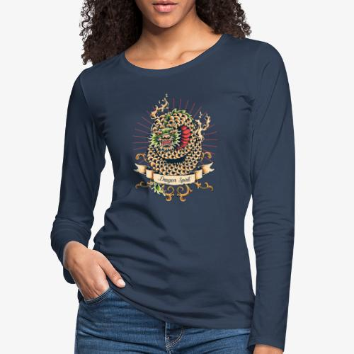 Drachengeist - Frauen Premium Langarmshirt