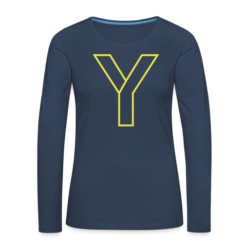 ChangeMy.Company Y Yellow - Frauen Premium Langarmshirt