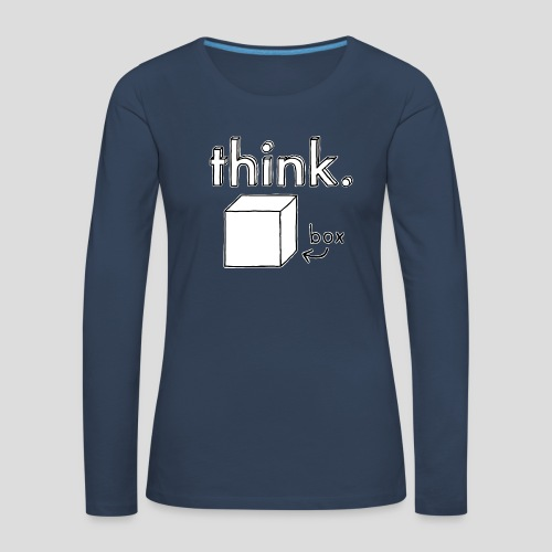 Think Outside The Box Illustration - Women's Premium Longsleeve Shirt