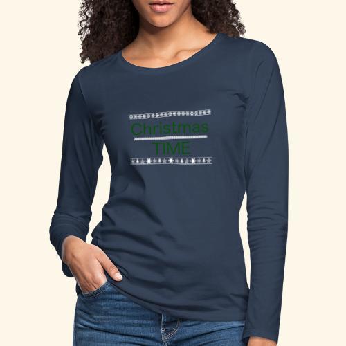 Christmas Time - Frauen Premium Langarmshirt