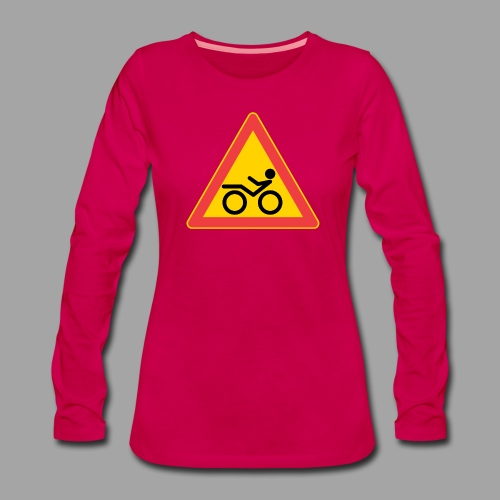 Traffic sign Recumbent - Naisten premium pitkähihainen t-paita