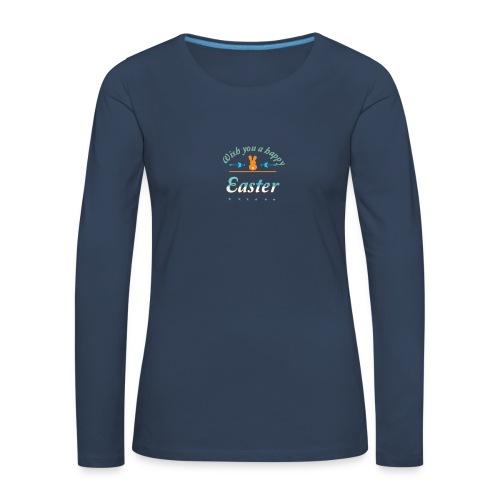 HappyEaster - Frauen Premium Langarmshirt