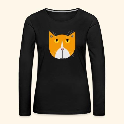 Hieno kissa - Naisten premium pitkähihainen t-paita