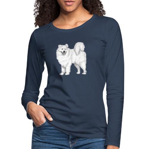 samoyed - Dame premium T-shirt med lange ærmer