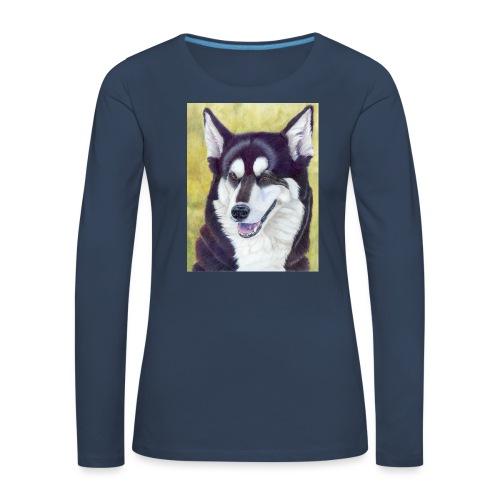 Siberian husky - Dame premium T-shirt med lange ærmer