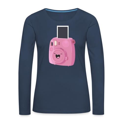 Appareil photo instantané rose - T-shirt manches longues Premium Femme