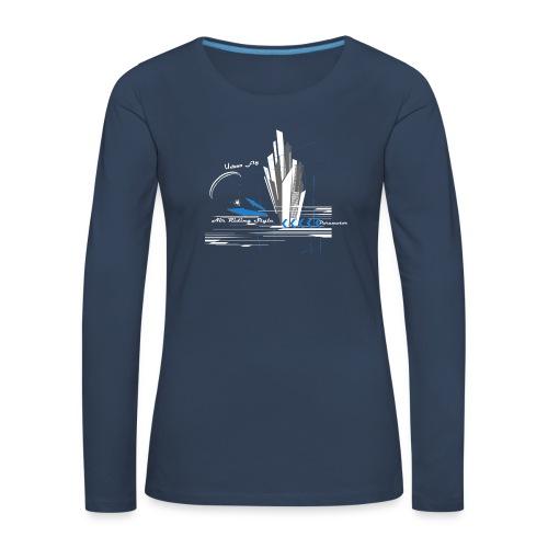 Libert'All Paramoteur Urban Fly bleu - T-shirt manches longues Premium Femme