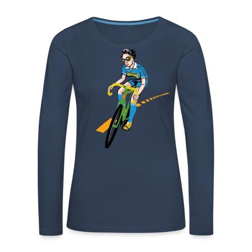 The Bicycle Girl - Frauen Premium Langarmshirt