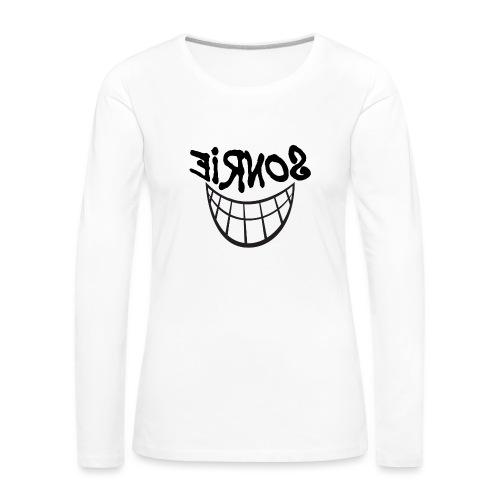 Para el Espejo:Sonrie 01 - Camiseta de manga larga premium mujer