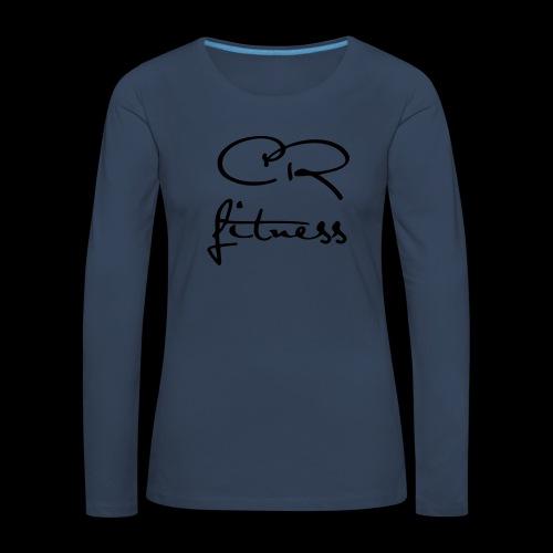 CRfitness logo mono onlight - Långärmad premium-T-shirt dam