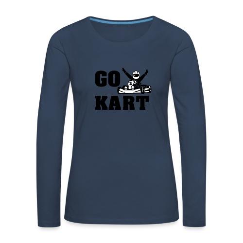 Go kart - T-shirt manches longues Premium Femme