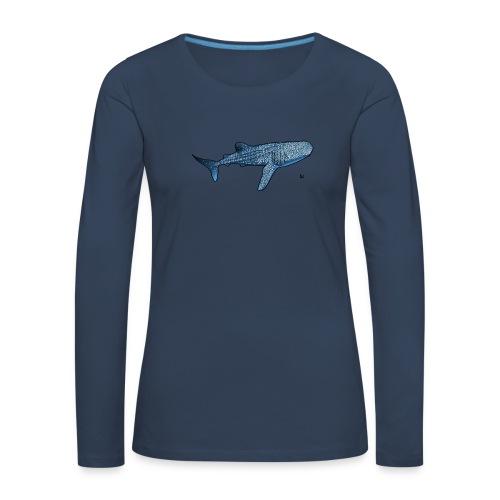 Whale shark - Frauen Premium Langarmshirt
