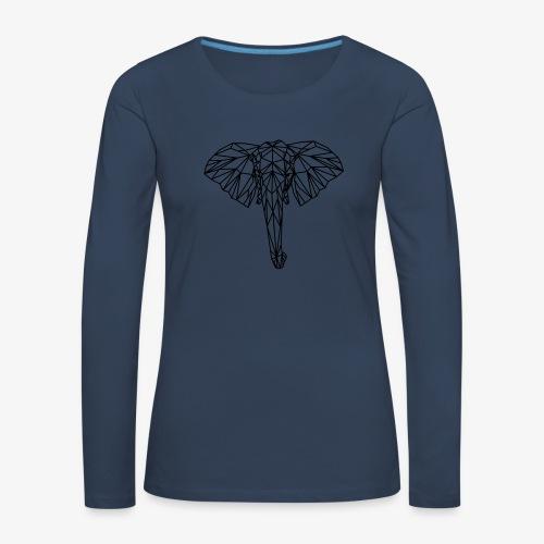 elephant - Maglietta Premium a manica lunga da donna