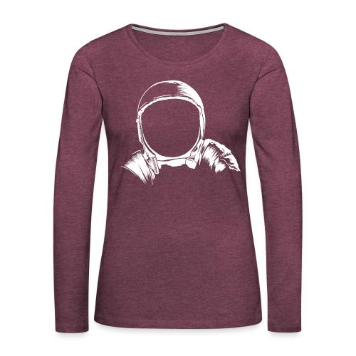 Astronauten Helm - Frauen Premium Langarmshirt