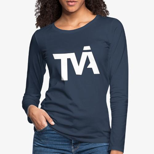 TVÅHUNDRA VIT - Långärmad premium-T-shirt dam