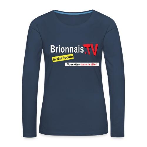 BTV logo shirt dos - T-shirt manches longues Premium Femme