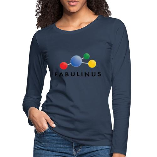 Fabulinus Zwart - Vrouwen Premium shirt met lange mouwen
