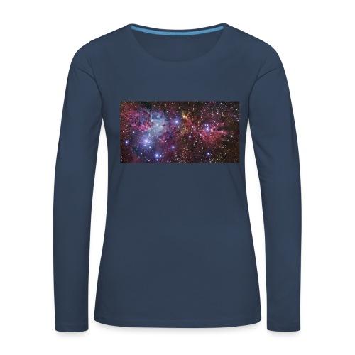 Stjernerummet Mullepose - Dame premium T-shirt med lange ærmer