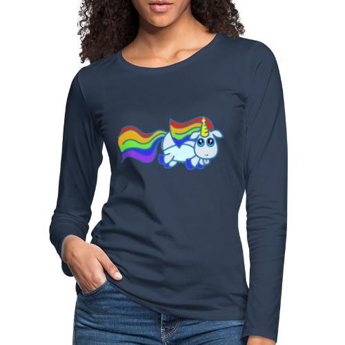Nyan unicorn - Maglietta Premium a manica lunga da donna