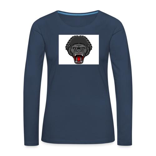 gorilla - Vrouwen Premium shirt met lange mouwen