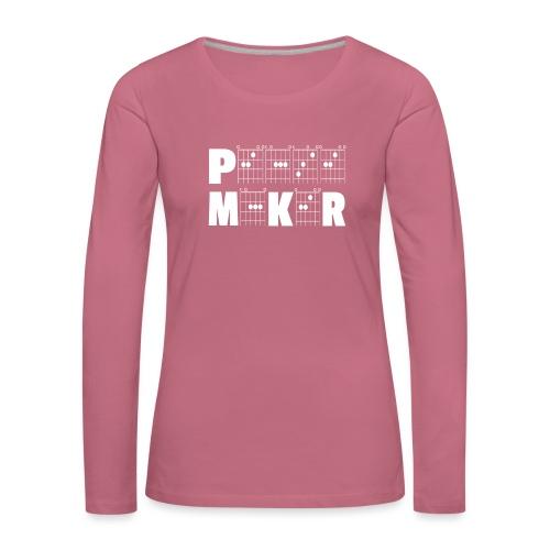 Peacemaker through the power of guitar chords! - Women's Premium Longsleeve Shirt