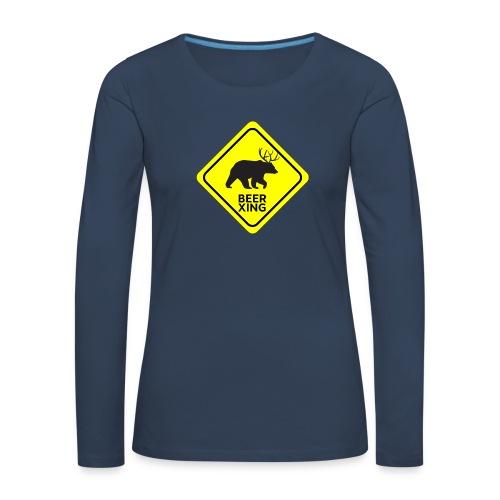 Macs Bear - Maglietta Premium a manica lunga da donna