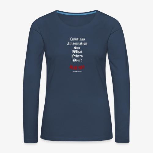 Limitless Imagination Wit - Vrouwen Premium shirt met lange mouwen